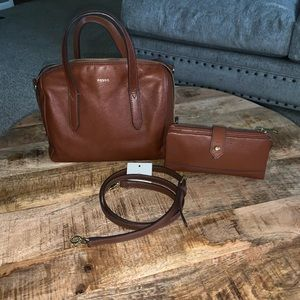Fossil Bag and Wallet